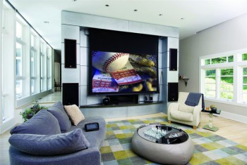high tech living room un home cinema para decorar la sala 15681