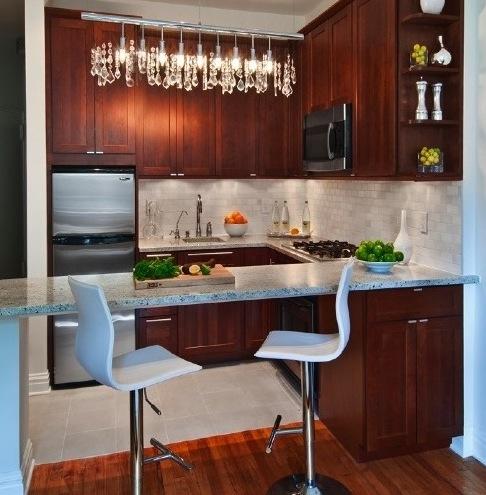 Tendencias 2013 c mo decorar una cocina peque a elegante for Sala cocina pequena