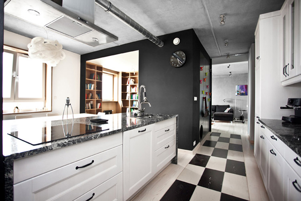 cocinas decoradas en blanco y negro