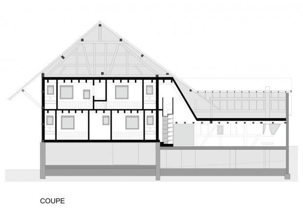 moderna casa de campo plano