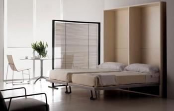 Camas de pared para decorar dormitorios pequeños