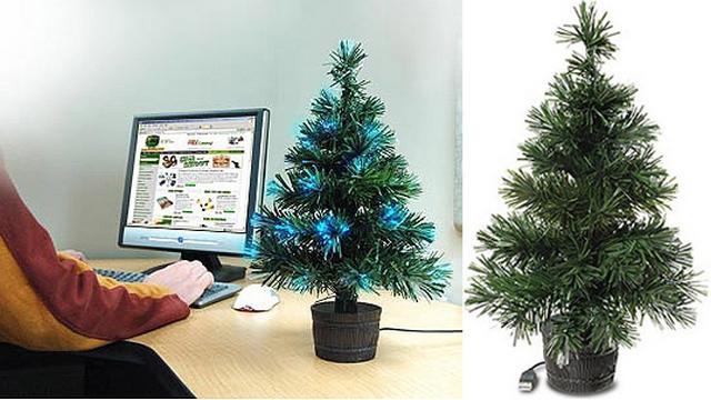 Decoracion navideña sutil para oficinas modernas 2