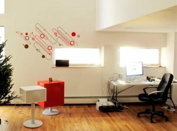 Decoracion navideña sutil para oficinas modernas