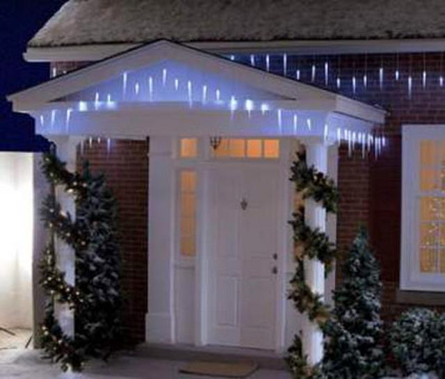 Decorar las columnas de tu casa para la navidad - Como adornar la casa en navidad ...