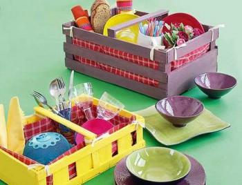 Decorar con cestas de picnic