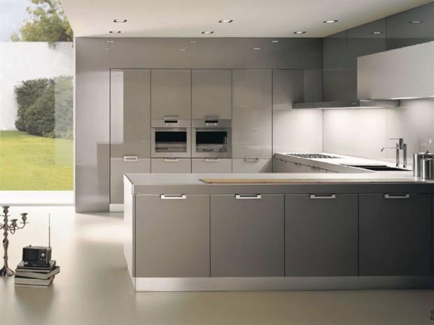 El color gris en la cocina