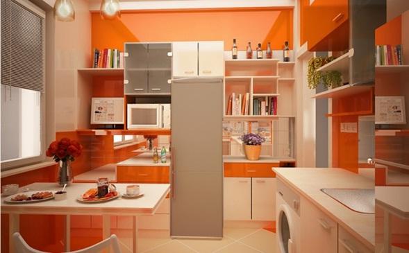 El color naranja en la decoraci n de la cocina for Pintura para el color de la cocina