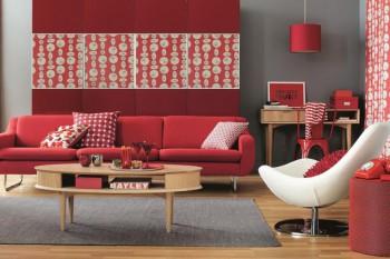 El color rojo en la decoración