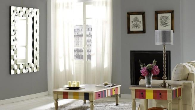El uso de los espejos en la decoraci n for Decoracion con espejos cuadrados