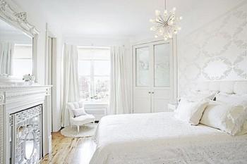 El uso del color blanco en la decoración de dormitorios..