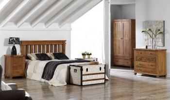 Estilo rústico en dormitorios