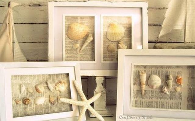 Ideas para decorar con conchas de mar 5