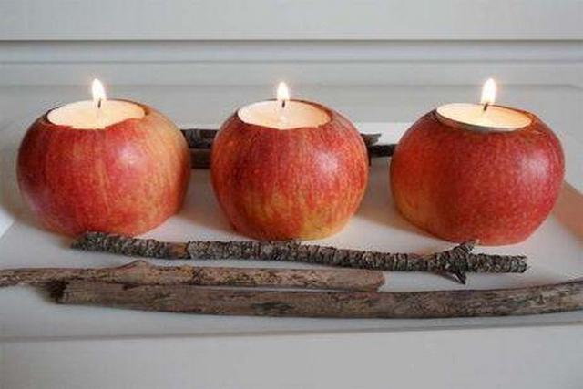Manzanas para decorar en Navidad 2
