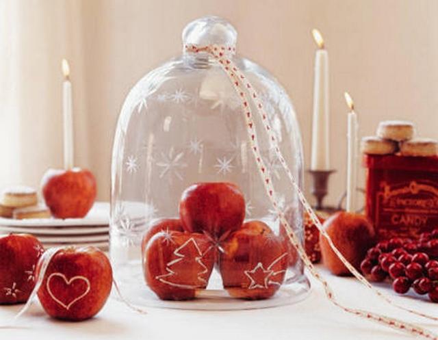Manzanas para decorar en Navidad 3
