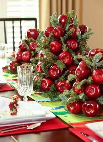 Manzanas para decorar en Navidad