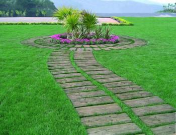 Senderos y caminos en el jardin