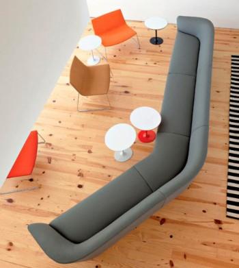 Separar ambientes con sofa modular