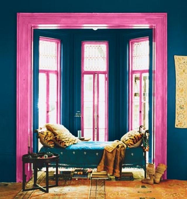Decoración en azul y rosa 3