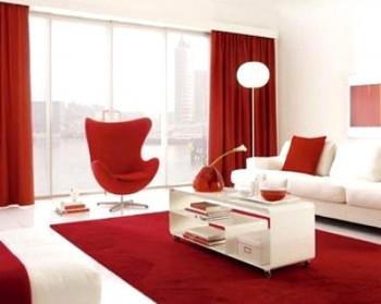 Decoracion con alfombra roja 1
