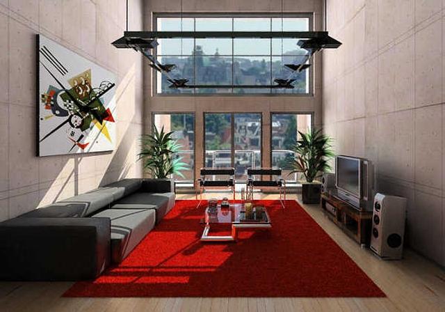 Decoraci n con alfombra roja - Alfombras para sala ...