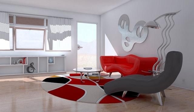 Decoracion con alfombra roja 5