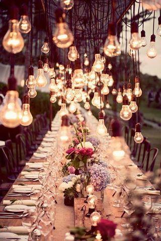 Decoracion con bombillas de luz
