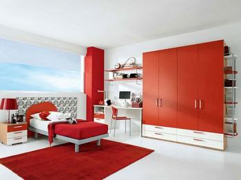 Decoracion con muebles rojos