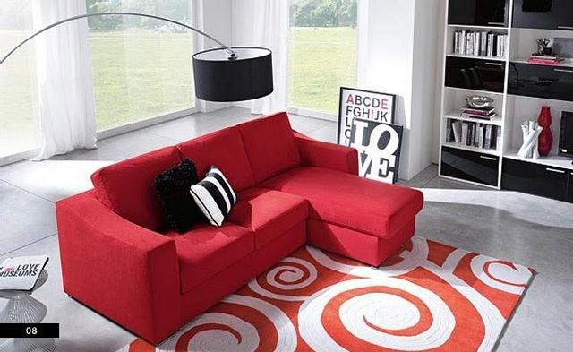 Decoracion con muebles rojos 4