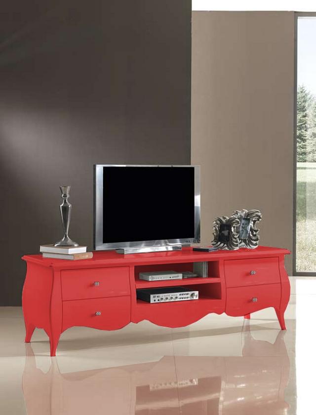 Decoracion con muebles rojos 5