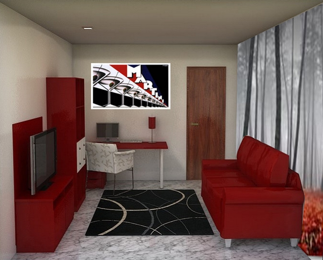 Decoraci n con muebles rojos for Muebles y decoracion beltran