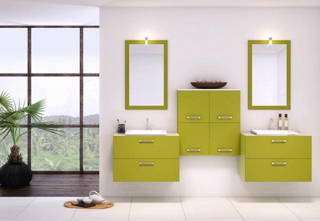 Decoracion con muebles verdes 2