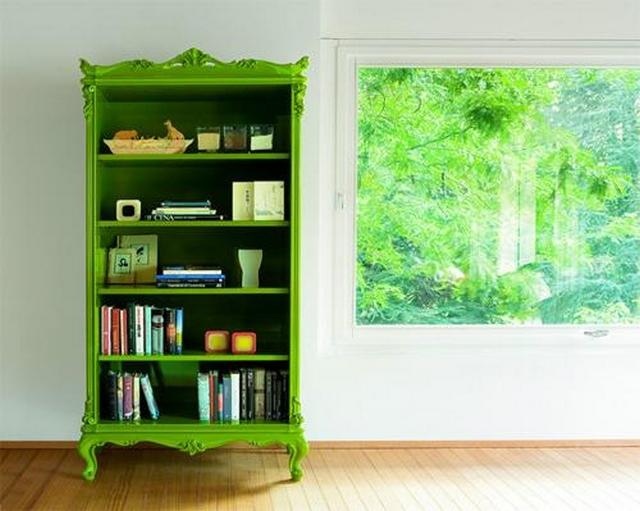 Decoracion con muebles verdes 3