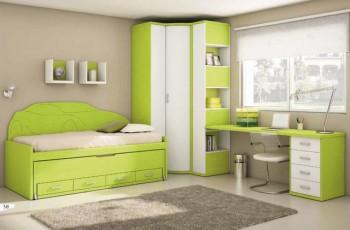 Decoracion con muebles verdes