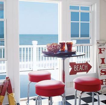 Decoracion de comedor inspirado en bar de playa
