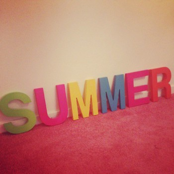 Decoracion de verano con letras Summer