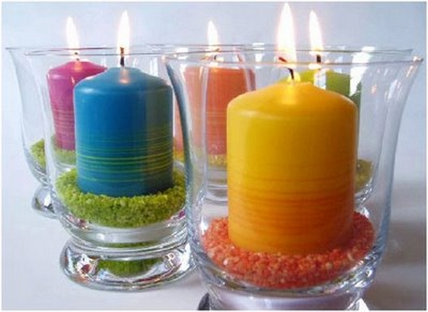 Decoracion de verano con velas 4
