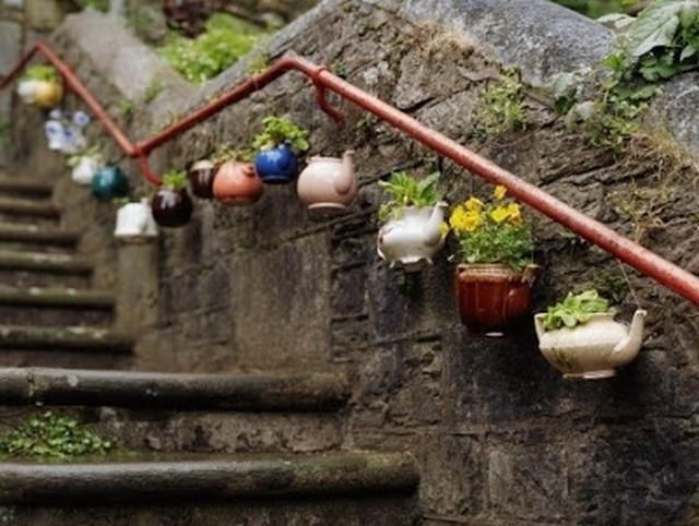 Decorar el jardin con escaleras 5