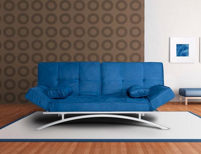 Decorar sala con sofa azul 2