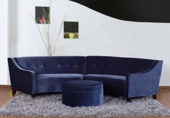 Decorar sala con sofa azul