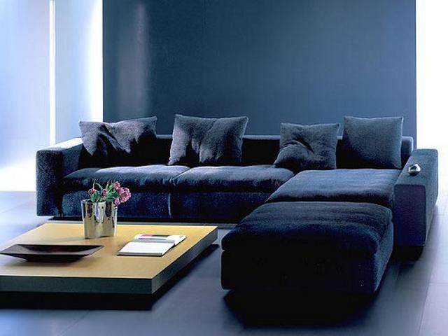 Decorar sala con sofa azul 4