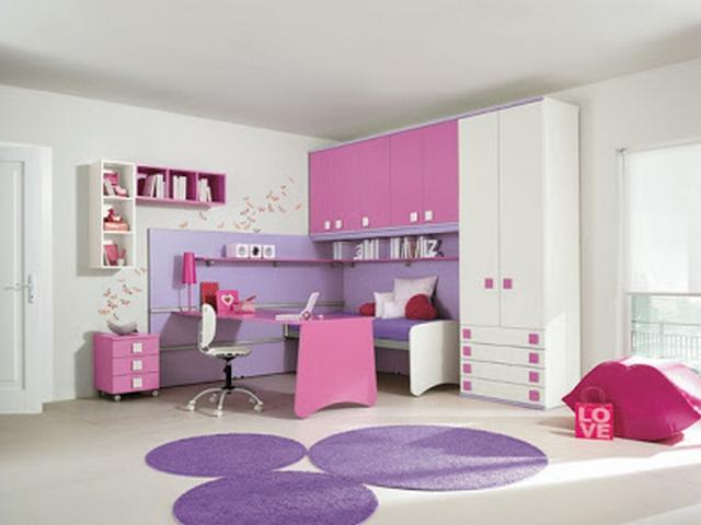 Dormitorio De Niña En Lila Y Blanco