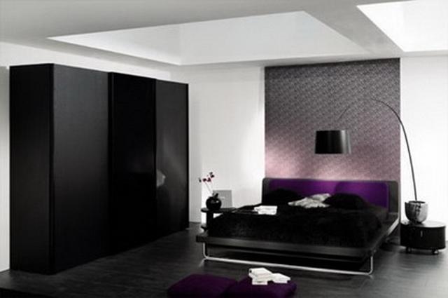 Dormitorios decorado en negro 2