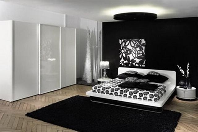 Dormitorios decorado en negro 3