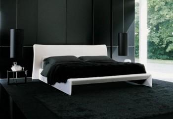 Dormitorios decorado en negro