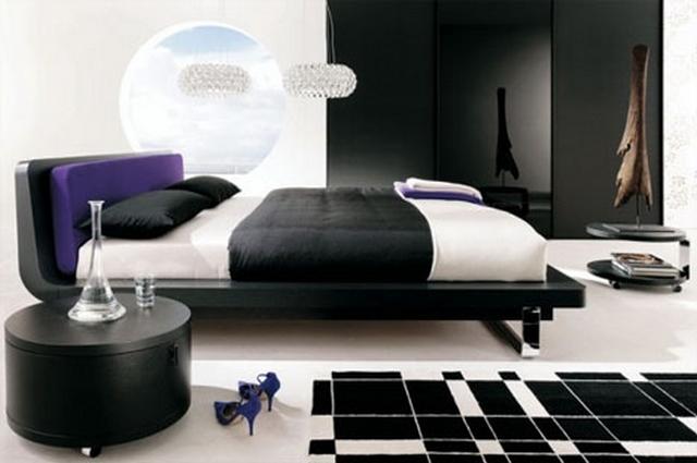 Dormitorios decorado en negro 5
