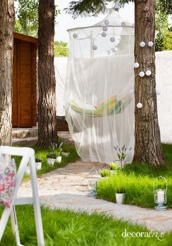 Hamaca con mosquitero para el jardin