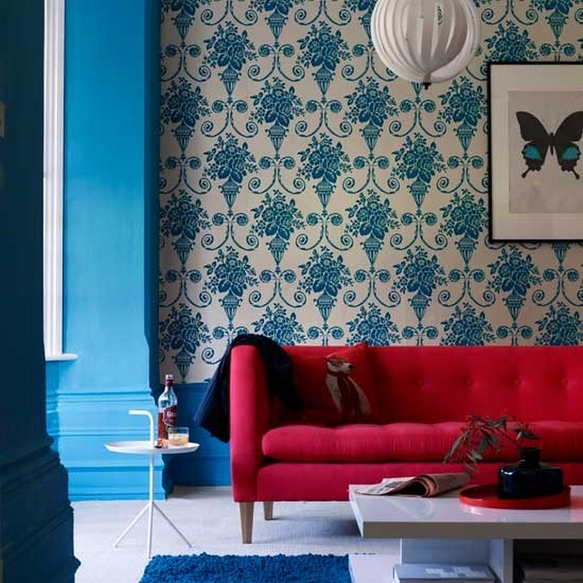 Ideas para decorar dormitorio en rojo y azul 1