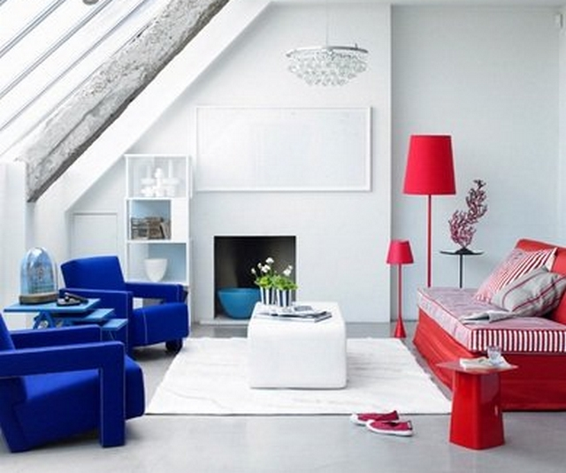 Ideas para decorar dormitorio en rojo y azul 4