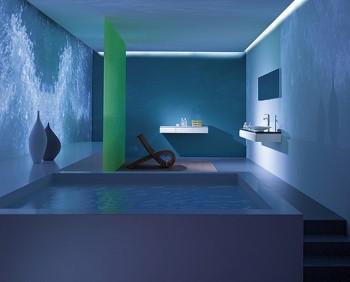 Ideas para decorar un baño azul moderno