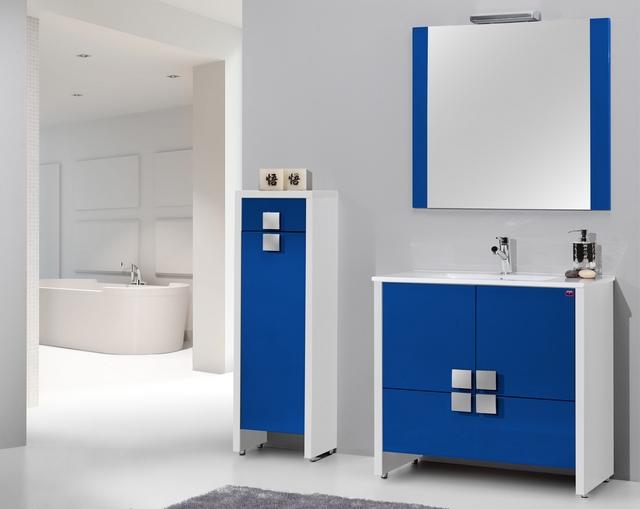 Ideas para decorar un baño azul moderno 4